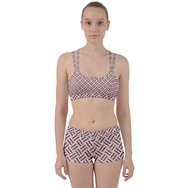 WOVEN2 WHITE MARBLE & RUSTED METAL (R) Women s Sports Set