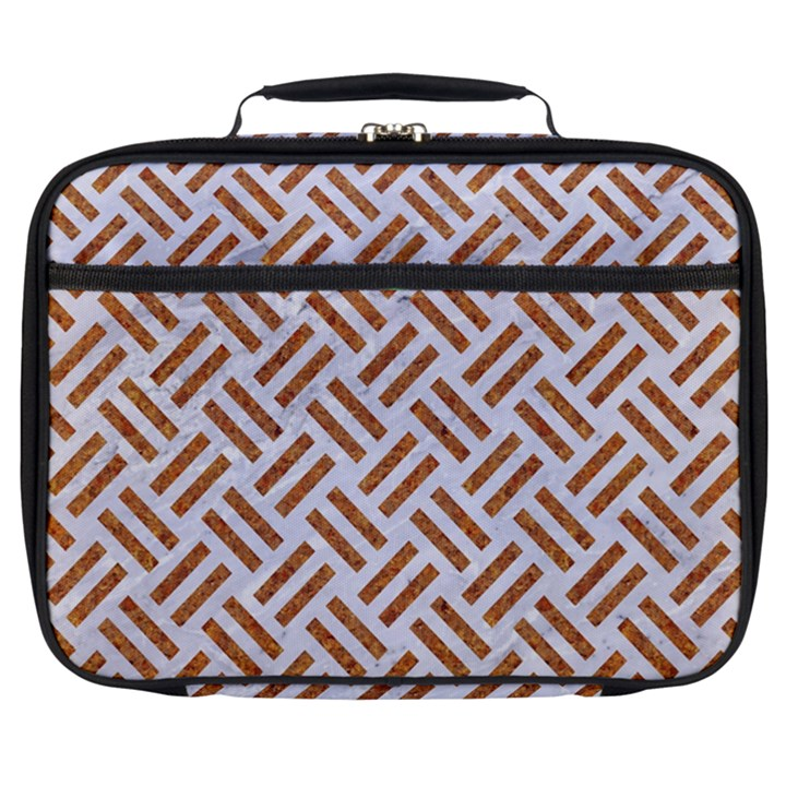 WOVEN2 WHITE MARBLE & RUSTED METAL (R) Full Print Lunch Bag