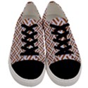 WOVEN2 WHITE MARBLE & RUSTED METAL (R) Men s Low Top Canvas Sneakers View1