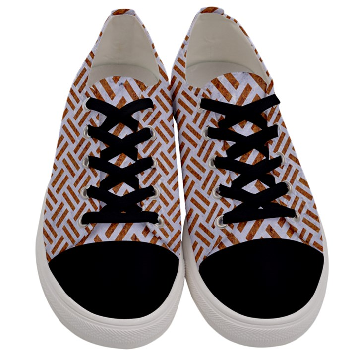 WOVEN2 WHITE MARBLE & RUSTED METAL (R) Men s Low Top Canvas Sneakers