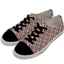 WOVEN2 WHITE MARBLE & RUSTED METAL (R) Men s Low Top Canvas Sneakers View2