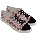 WOVEN2 WHITE MARBLE & RUSTED METAL (R) Men s Low Top Canvas Sneakers View3