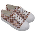 WOVEN2 WHITE MARBLE & RUSTED METAL (R) Kids  Low Top Canvas Sneakers View3