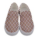 WOVEN2 WHITE MARBLE & RUSTED METAL (R) Women s Canvas Slip Ons View1