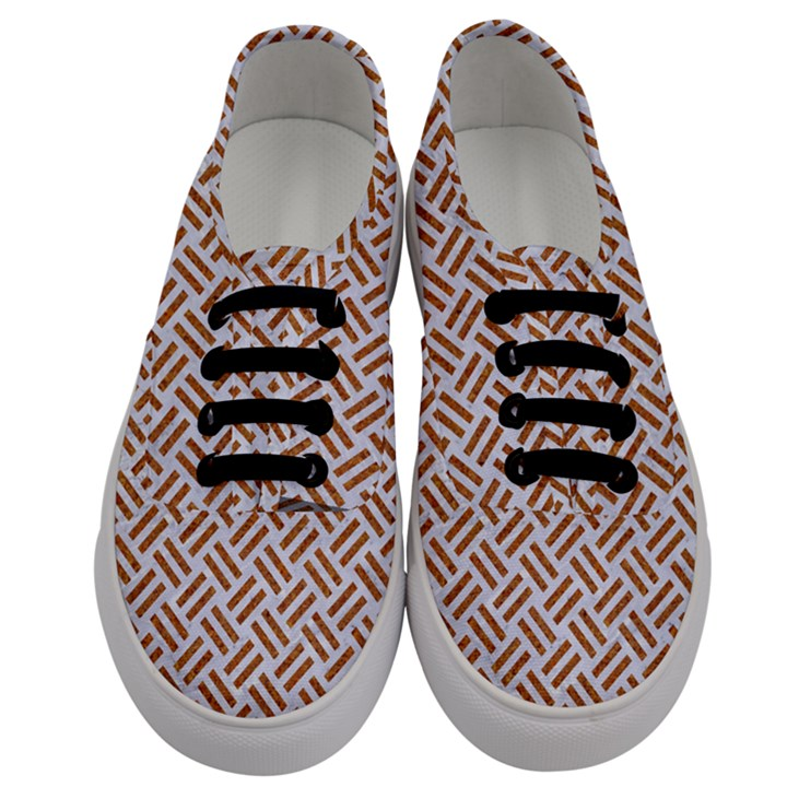 WOVEN2 WHITE MARBLE & RUSTED METAL (R) Men s Classic Low Top Sneakers
