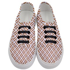 Woven2 White Marble & Rusted Metal (r) Women s Classic Low Top Sneakers