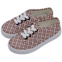 WOVEN2 WHITE MARBLE & RUSTED METAL (R) Kids  Classic Low Top Sneakers View2