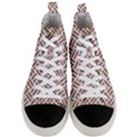 WOVEN2 WHITE MARBLE & RUSTED METAL (R) Men s Mid-Top Canvas Sneakers View1