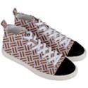 WOVEN2 WHITE MARBLE & RUSTED METAL (R) Men s Mid-Top Canvas Sneakers View3
