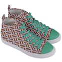 WOVEN2 WHITE MARBLE & RUSTED METAL (R) Women s Mid-Top Canvas Sneakers View3