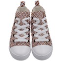 WOVEN2 WHITE MARBLE & RUSTED METAL (R) Kid s Mid-Top Canvas Sneakers View1