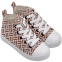 WOVEN2 WHITE MARBLE & RUSTED METAL (R) Kid s Mid-Top Canvas Sneakers View3
