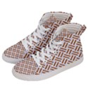 WOVEN2 WHITE MARBLE & RUSTED METAL (R) Women s Hi-Top Skate Sneakers View2