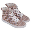 WOVEN2 WHITE MARBLE & RUSTED METAL (R) Women s Hi-Top Skate Sneakers View3