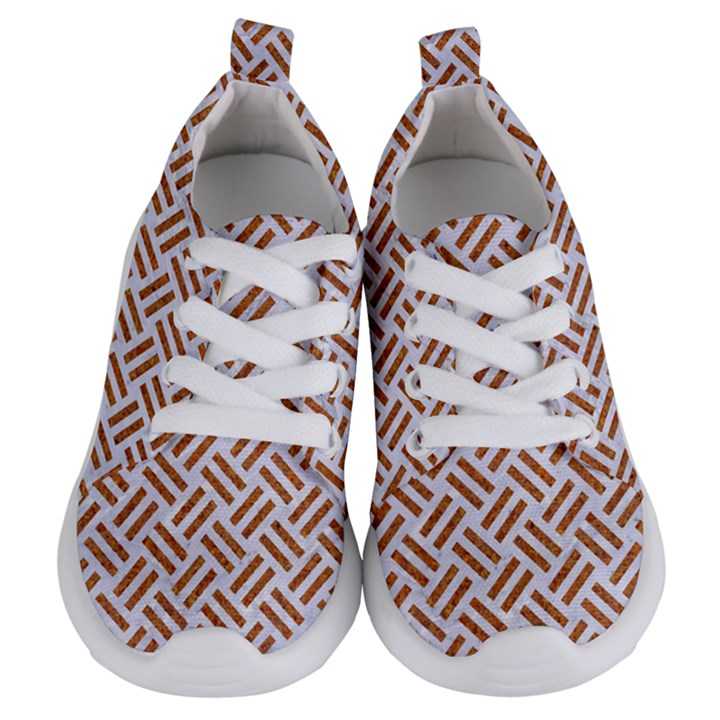 WOVEN2 WHITE MARBLE & RUSTED METAL (R) Kids  Lightweight Sports Shoes