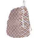 WOVEN2 WHITE MARBLE & RUSTED METAL (R) Foldable Lightweight Backpack View4