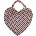WOVEN2 WHITE MARBLE & RUSTED METAL (R) Giant Heart Shaped Tote View1