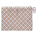WOVEN2 WHITE MARBLE & RUSTED METAL (R) Canvas Cosmetic Bag (XXL) View2