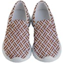 WOVEN2 WHITE MARBLE & RUSTED METAL (R) Kid s Lightweight Slip Ons View1