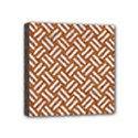 WOVEN2 WHITE MARBLE & RUSTED METAL Mini Canvas 4  x 4  View1
