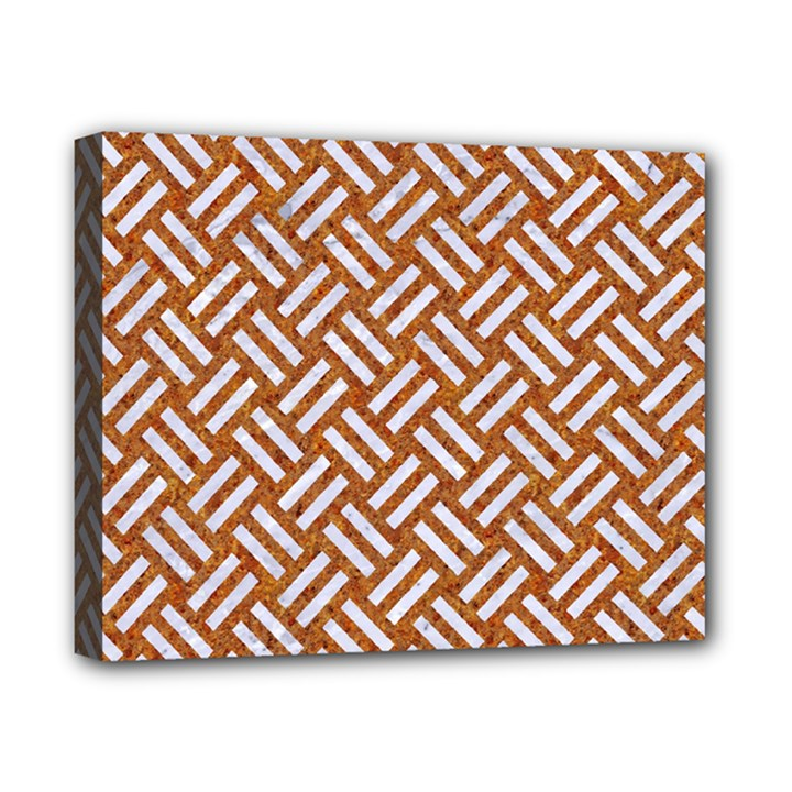 WOVEN2 WHITE MARBLE & RUSTED METAL Canvas 10  x 8