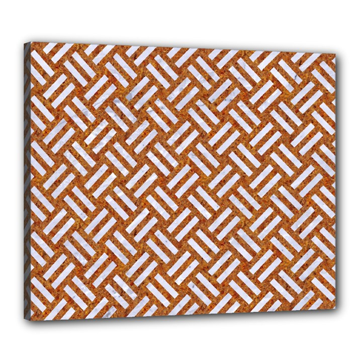WOVEN2 WHITE MARBLE & RUSTED METAL Canvas 24  x 20