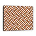 WOVEN2 WHITE MARBLE & RUSTED METAL Deluxe Canvas 20  x 16   View1