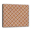 WOVEN2 WHITE MARBLE & RUSTED METAL Deluxe Canvas 24  x 20   View1