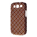 WOVEN2 WHITE MARBLE & RUSTED METAL Samsung Galaxy S III Classic Hardshell Case (PC+Silicone) View3