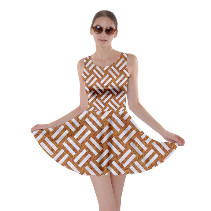 WOVEN2 WHITE MARBLE & RUSTED METAL Skater Dress