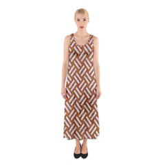 Woven2 White Marble & Rusted Metal Sleeveless Maxi Dress