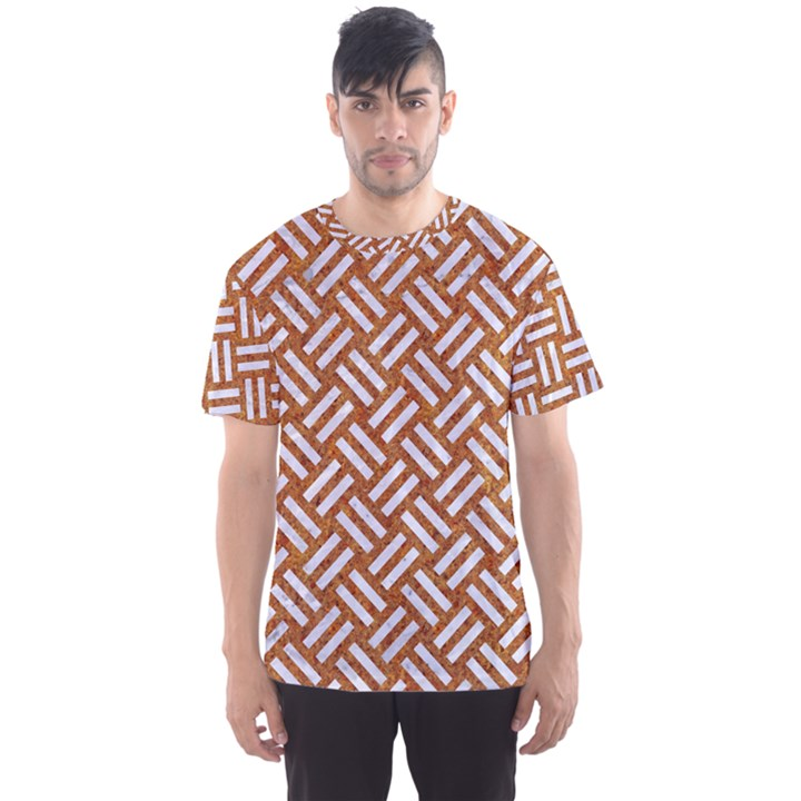 WOVEN2 WHITE MARBLE & RUSTED METAL Men s Sports Mesh Tee