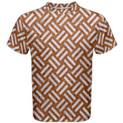 Woven2 White Marble & Rusted Metal Men s Cotton Tee