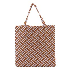 Woven2 White Marble & Rusted Metal Grocery Tote Bag