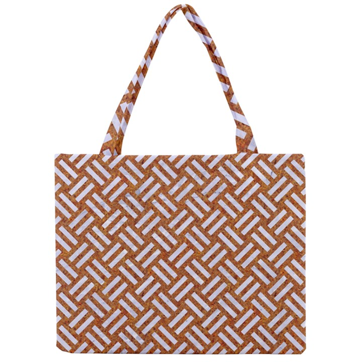 WOVEN2 WHITE MARBLE & RUSTED METAL Mini Tote Bag