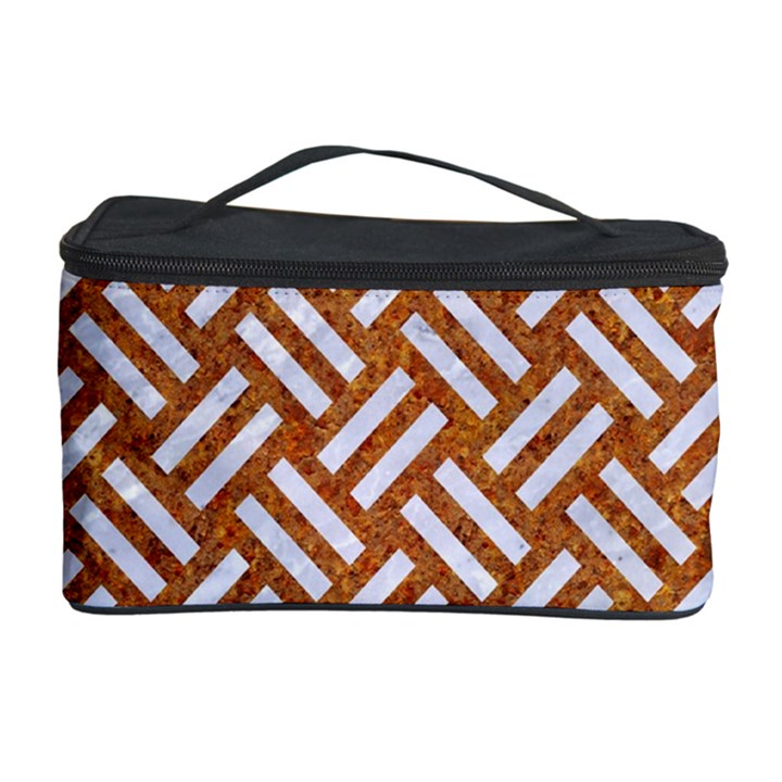 WOVEN2 WHITE MARBLE & RUSTED METAL Cosmetic Storage Case