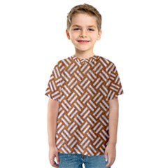 Woven2 White Marble & Rusted Metal Kids  Sport Mesh Tee