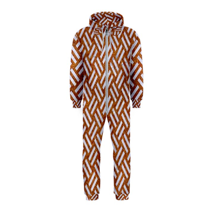 WOVEN2 WHITE MARBLE & RUSTED METAL Hooded Jumpsuit (Kids)