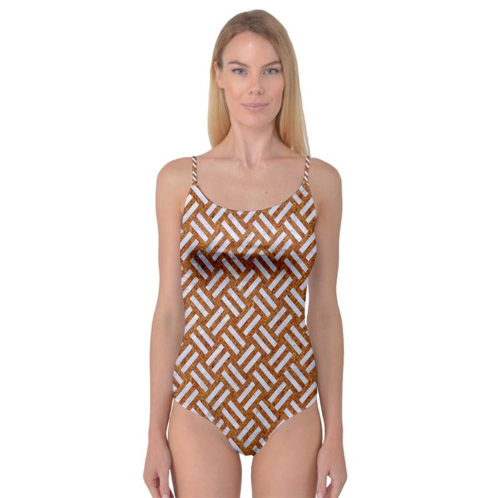 WOVEN2 WHITE MARBLE & RUSTED METAL Camisole Leotard