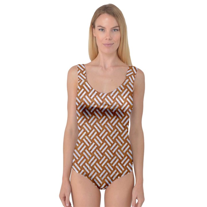 WOVEN2 WHITE MARBLE & RUSTED METAL Princess Tank Leotard