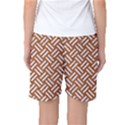 WOVEN2 WHITE MARBLE & RUSTED METAL Women s Basketball Shorts View2