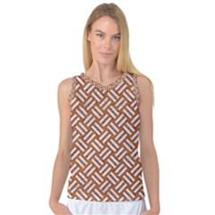Woven2 White Marble & Rusted Metal Women s Basketball Tank Top