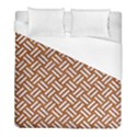 WOVEN2 WHITE MARBLE & RUSTED METAL Duvet Cover (Full/ Double Size) View1