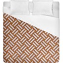 WOVEN2 WHITE MARBLE & RUSTED METAL Duvet Cover (King Size) View1