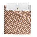 WOVEN2 WHITE MARBLE & RUSTED METAL Duvet Cover Double Side (Full/ Double Size) View1