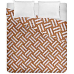 Woven2 White Marble & Rusted Metal Duvet Cover Double Side (california King Size)