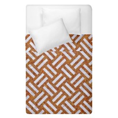 Woven2 White Marble & Rusted Metal Duvet Cover Double Side (single Size)