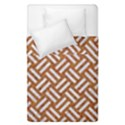 WOVEN2 WHITE MARBLE & RUSTED METAL Duvet Cover Double Side (Single Size) View1