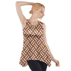 Woven2 White Marble & Rusted Metal Side Drop Tank Tunic
