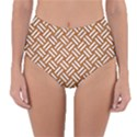 WOVEN2 WHITE MARBLE & RUSTED METAL Reversible High-Waist Bikini Bottoms View1